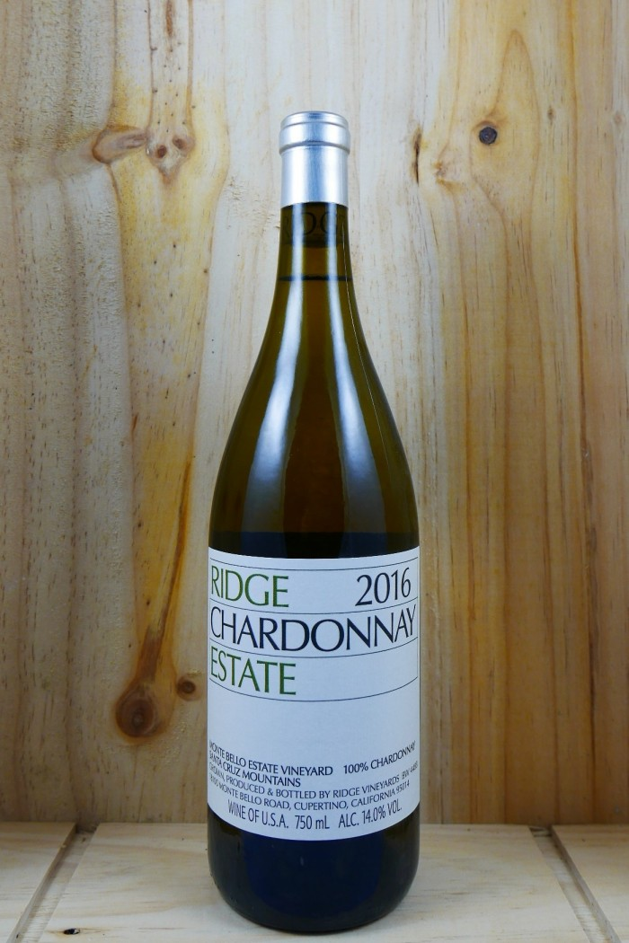 RIDGE Estate Chardonnay Santa Cruz Mountains 2016